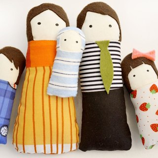 Goody Bag - Pintamono + Family Set  of 5 Dolls