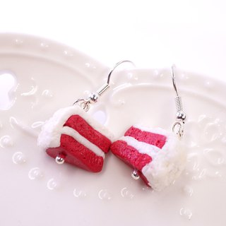 *Playful Design* Red Velvet Cake Drop Earrings