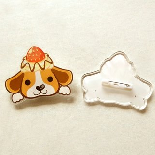 Miguel / dog pin - brooch - badge