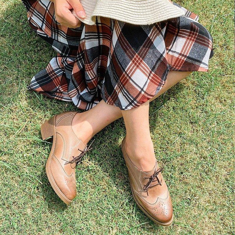 可可里諾 牛津小踝鞋 中根牛津鞋 芋灰