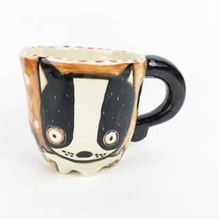 Nice Little Clay Eight-legged mug cute dog 0107-05