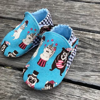 Animal Circus - Blue Baby Shoes Toddler Shoes