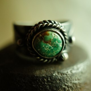 【janvierMade】American Turquoise Sterling Silver Ring / American Turquoise and 925 Sterling Silver