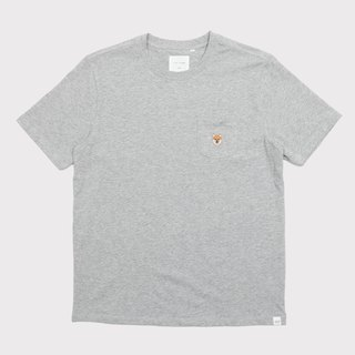 【Pjai】Pocket T-shirt- White//Grey (TP630)