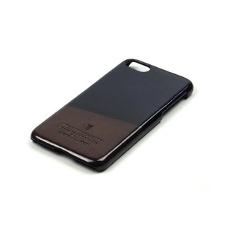 Racket leather case iPhone 7 /Pingpong (Navy-Brown)