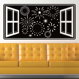 Smart Design Creative wall stickers Incognito ◆ fireworks (8 colors optional)