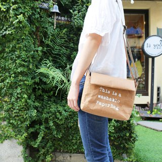 Washed kraft paper eco-friendly side backpack