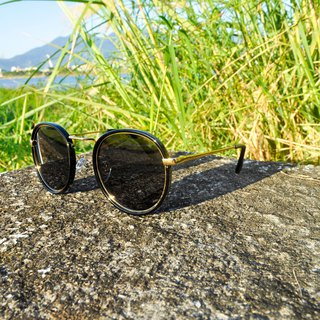 Sunglasses Polarized│Vintage Round Black Frame│UV400 Protection│2is PittD