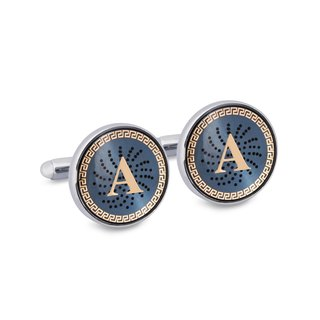 "Monogram ""A"" Cufflinks with Lacquer Finish"