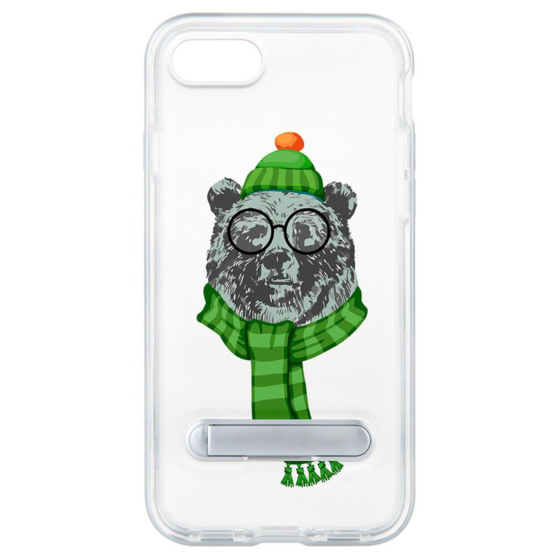 Happy Bear Hidden Magnet Holder iPhone 8 7 6 plus Mobile Shell Case Case