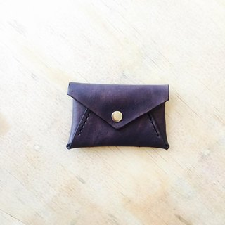 Black envelope type coin purse exchange gift flash drive storage custom handmade leather sniffing leather hand made