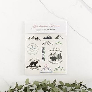 My Dear Tattoo / Temporary Tattoo /  Mountains / 2 pcs