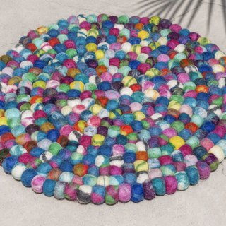 Chinese Valentine's Day Gift Wool Felt Wool Felt Carpet Wool Felt Ball Mat Mat Wool Felt Upholstery Mat - Ocean