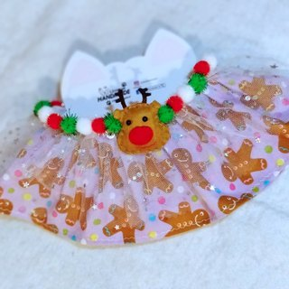 Christmas Santa Claus Christmas Deer Pet Scarf / Necklace
