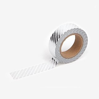 Dailylike Gold and Silver Series - Single roll of paper tape -47 silver twill, E2D26303