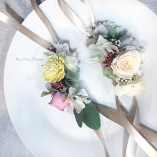 Simple wrist flower - elegant / not withered flower / wrist flower / wedding / Korean / simple