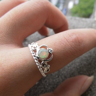 Opal Opal Opal 925 sterling silver crown ring to live in Nepal handmade mosaic making birthday gift Valentine's Day gift