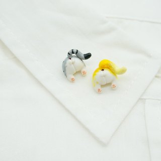 Tiger cat egg ass brooch collar needle pin cat butt pin needle Christmas New Year gift
