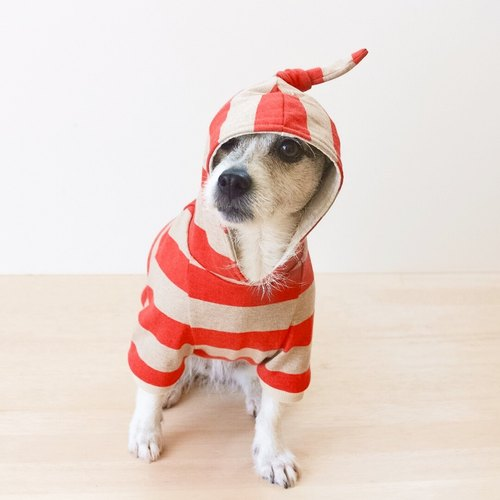 Dog hoodie -Twin- / Red