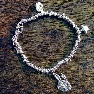 emmaAparty sterling silver bracelet '' overturned rabbit