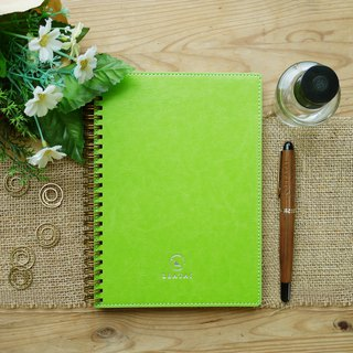 Spiral Planner-PU leather-Green