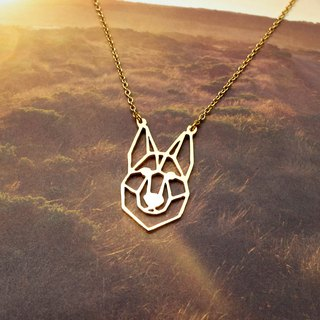 German Shepherd, Dog Necklace, Pet Jewelry, Gold Plated Necklace, Dog gifts