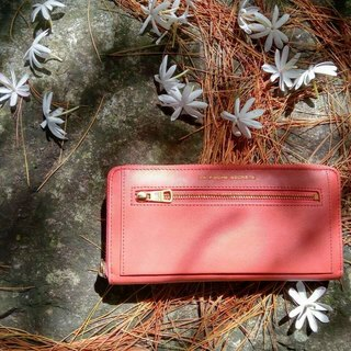LaPoche Secrete: 邂逅 Daily Girl _ Washed Cowhide Clip _ Orange