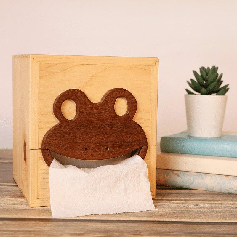 【木藝】造型原木面紙盒 日本檜木 非洲柚木