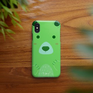 the cute green bear iphone case สำหรับ iphone7 iphone 8 iphone 8 plus iphone x