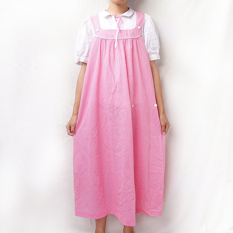 BajauTua /古著/ 80's 美國製 粉紅泡泡洋裝