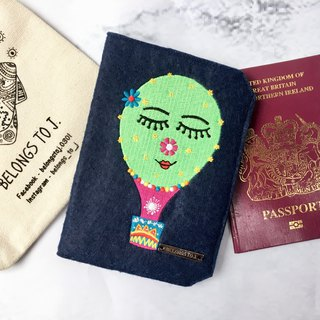 Belongs To J. Embroidery Passport Case / Passport Cover - Sweet Julia