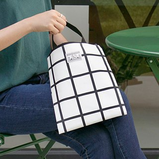 BNTP small person daily file portable universal bag M-white plaid, BNP81970
