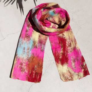 Tanabata gift limited to a handmade wool felt scarf / wet felt scarf / watercolor art sense of scarf / wool gradient layer of scarf - colorful ice cream watercolor rendering color