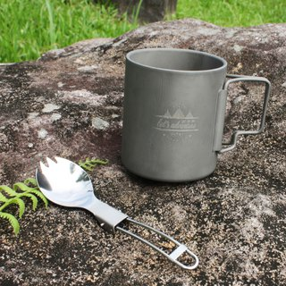 Goody bag blessing bag - easy uphill group | pure titanium double insulated cup and titanium tableware folding spoon fork