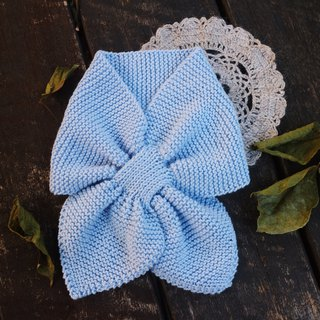 Handmade - Aqua Blue - Kids Scarves - Hand knit warm - Soft Merino wool