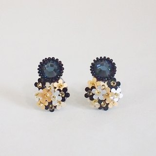 "Earrings""bijoux & bouquet""navy blue"