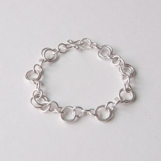 Both pairs - Silver circle bracelet / custom typing