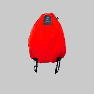 grion waterproof bag - back section (L) flocking fabric orange