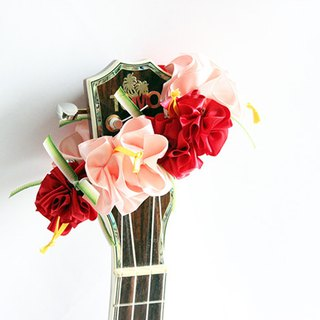 ribbon lei for ukulele,pr hibiscus,ukulele strap,ukulele accessories,hawaiian