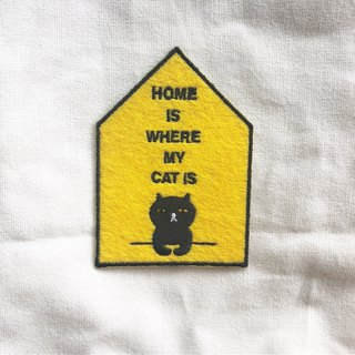 HOME IS WHERE MY CAT IS PATCH