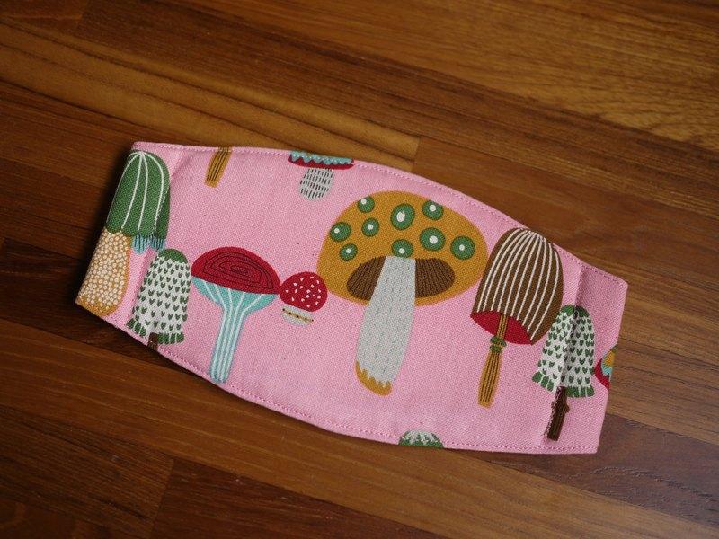 手作訂製=日常必備小物=手作口罩=菇菇森林=粉紅