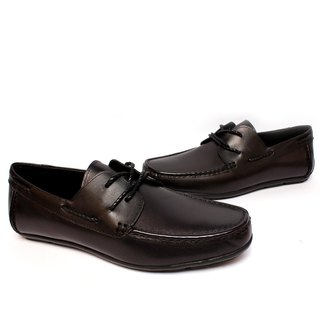 Filial Piety Temple yield righteous yuppie style strap black leather driving shoes