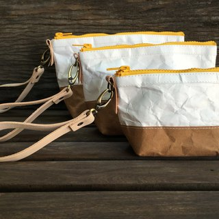 Cosmetic bag : Tyvek and Kraft paper bag