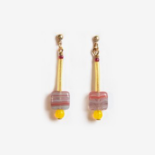 Flamingo Square Earrings