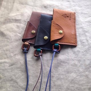 Simple Simple beauty card / business card holder (currently only original leather / rock black) _ hand-stitched leather