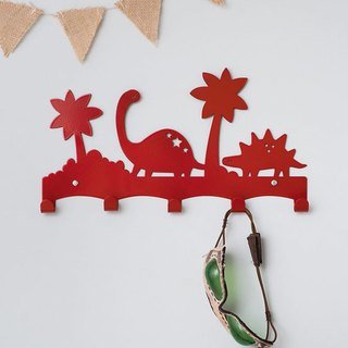 Dinosaur Forest Hook (Enthusiastic Red)
