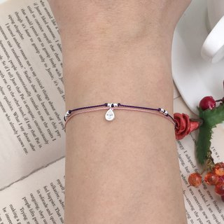 *Le Bonheur happy Line line*925 sterling silver beads string 925 sterling silver thin transparent water drops drill / drill water droplets Princess tears (guest book section)