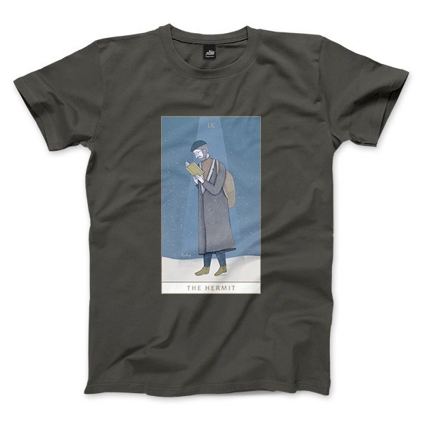 IX | The Hermit - dark gray - Unisex T-Shirt