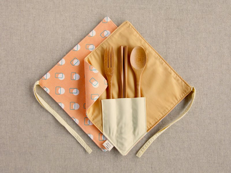 [One Corner Chopstick Set] - Papaya Orange