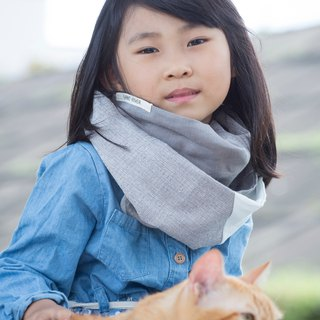 Gray /  Child Size / Cool Spring & Autumn Neck Warmer / Scarf